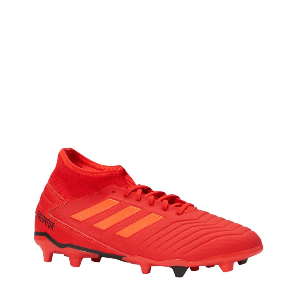 adidas performance   Predator 19.3 FG voetbalschoenen rood, Rood/zwart