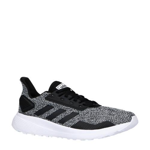 adidas performance Duramo 9 hardloopschoenen zwart-grijs-wit