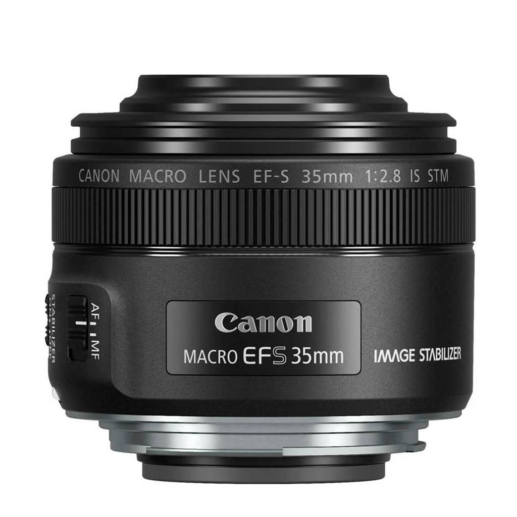 Canon EF-S 35MMF/2.8 M macrolens EF-S 35mm f/2.8 Macro IS STM, Zwart