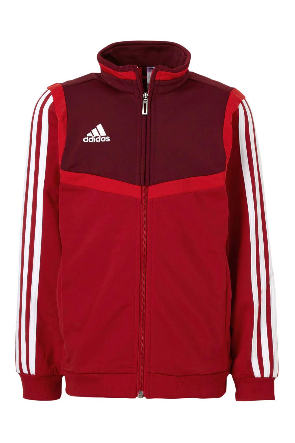 adidas performance   sportvest rood, Rood/bordeauxrood/wit