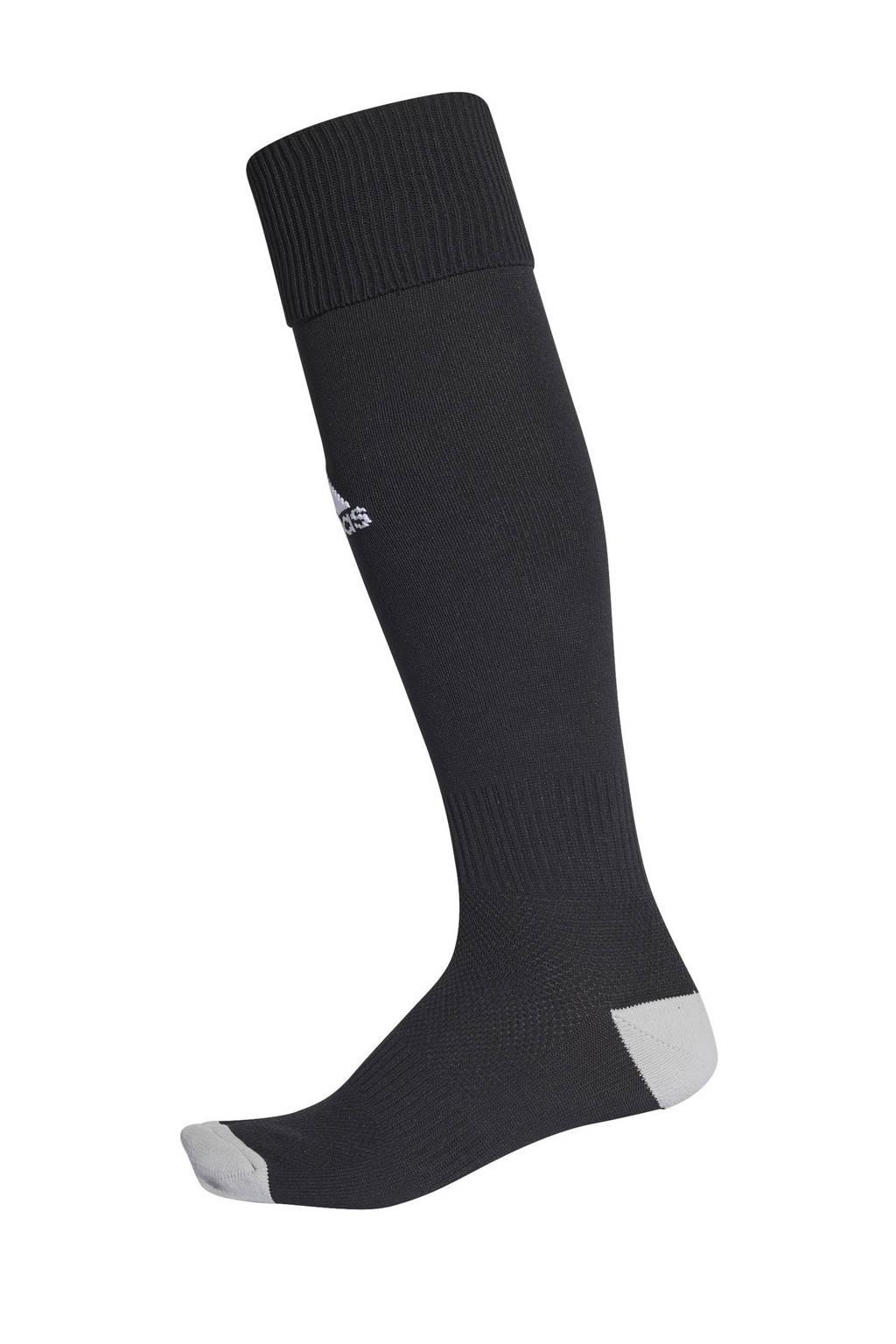 adidas Performance Senior  voetbalsokken Milano 16 zwart, Zwart/lichtgrijs