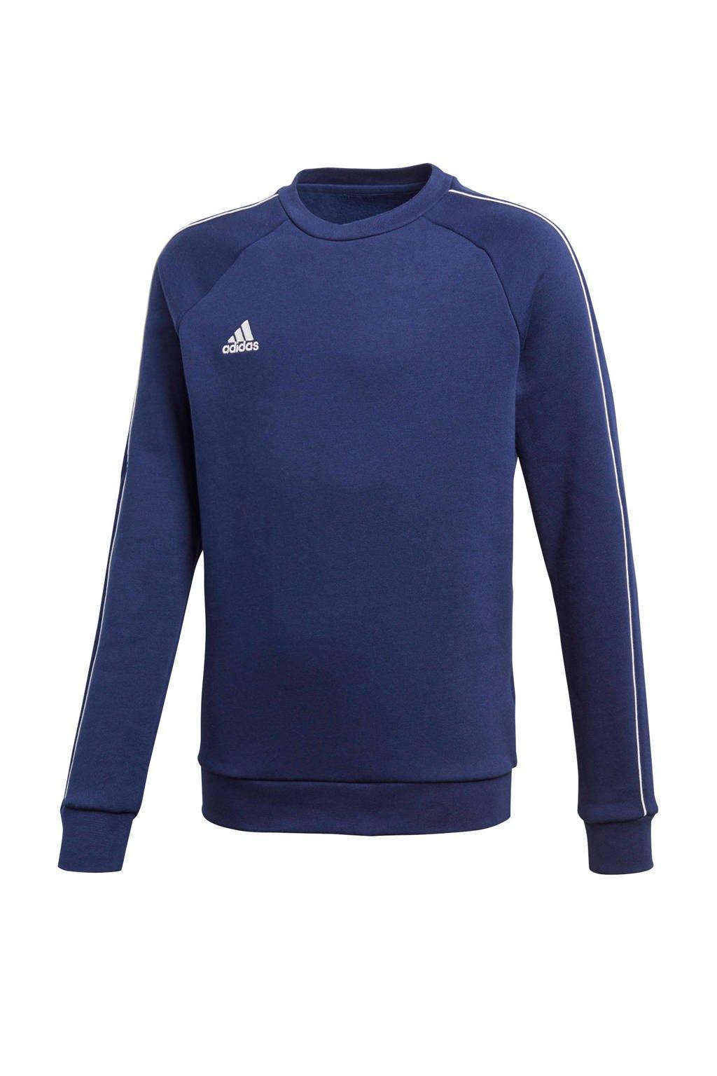 adidas Performance   sportsweater Core 18 donkerblauw, Donkerblauw/wit