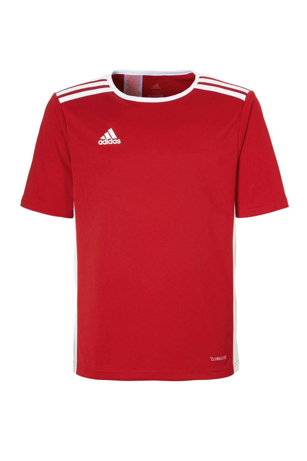 adidas Performance   sport T-shirt Entrada rood, Rood/wit, Jongens/meisjes