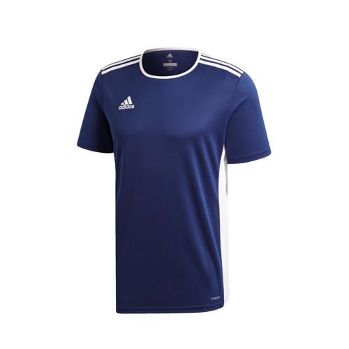 adidas Performance sport T-shirt Entrada donkerbla
