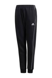 adidas Performance   joggingbroek Core 18 antraciet, Zwart/wit