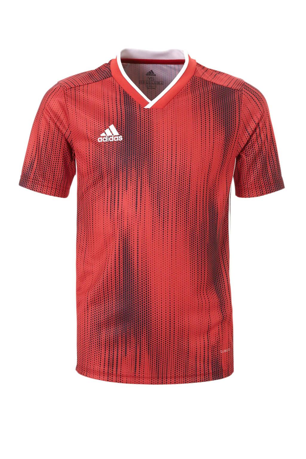adidas performance Junior  sport T-shirt Tiro rood, Jongens/meisjes