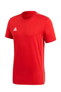 adidas   Core 18 sport T-shirt rood, Rood/wit