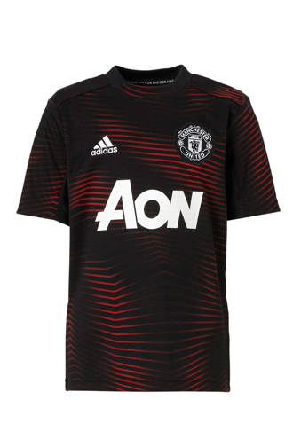 performance Junior Manchester United voetbalshirt zwart