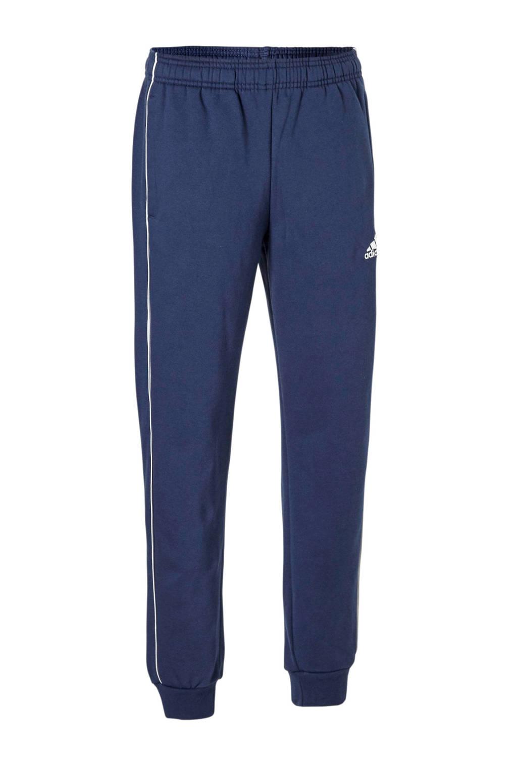 adidas performance   joggingbroek donkerblauw, Donkerblauw/wit