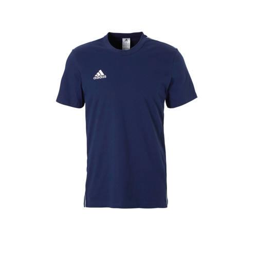 adidas performance Core 18 sport T-shirt donkerblauw