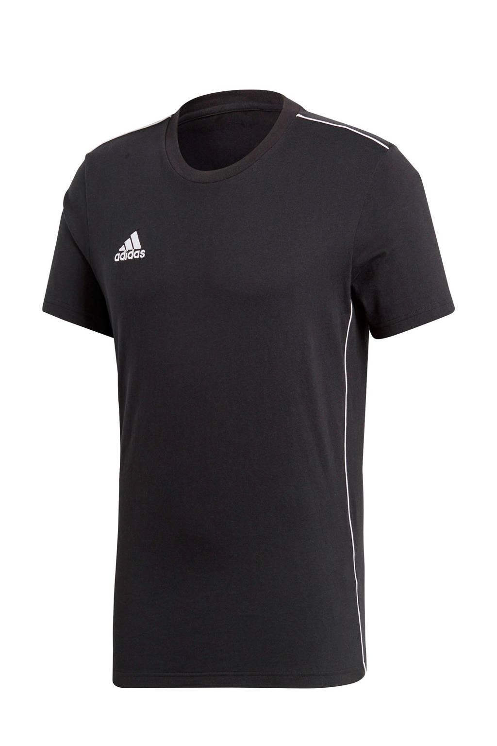 adidas performance   Core 18 sport T-shirt zwart, Zwart