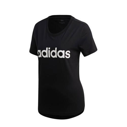 Adidas T-shirt Adidas 500 pilates lichte gym dames zwart-wit
