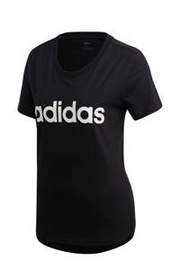 adidas Performance sport T-shirt zwart, Zwart/wit