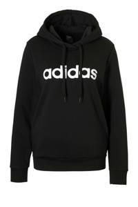 adidas Performance sporthoodie zwart/wit, Zwart/wit
