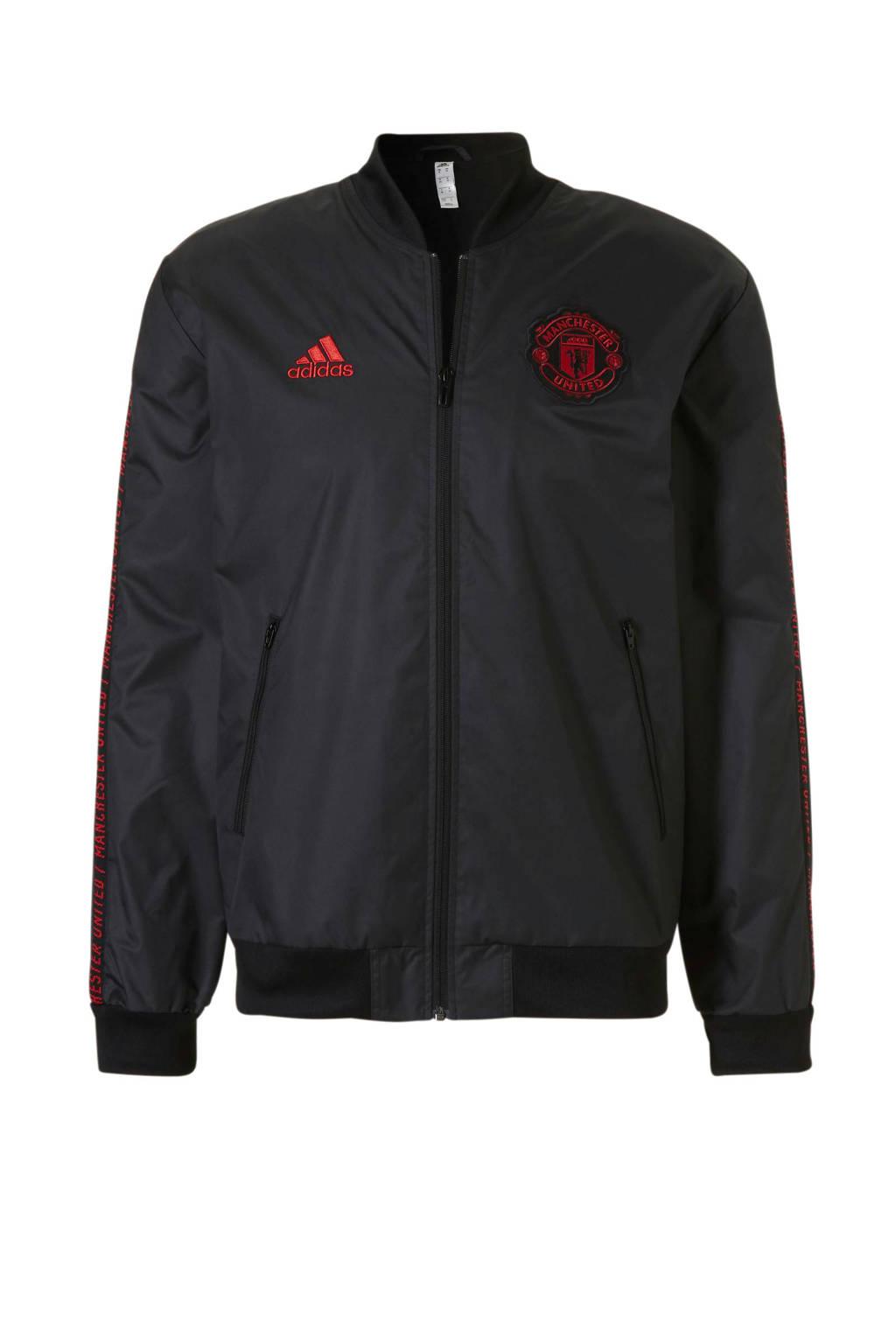 adidas performance Senior Manchester United voetbaljack, Zwart/rood