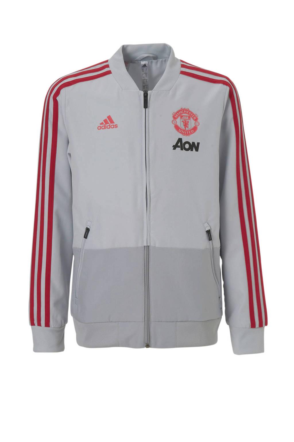 adidas performance Junior Manchester United voetbaljack, Grijs/rood