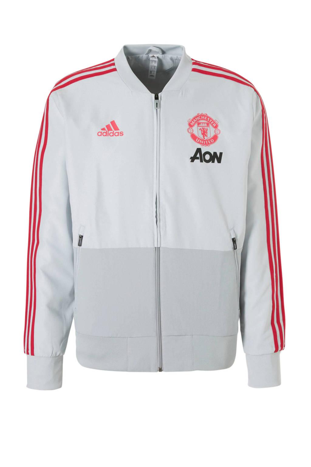 adidas performance  Manchester United sportvest Manchester United lichtgrijs, Lichtgrijs/rood
