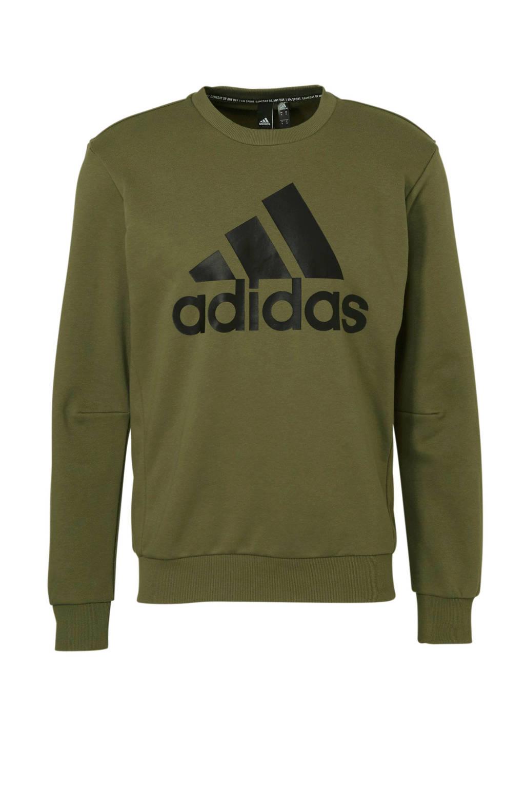 adidas performance   sportsweater met printopdruk groen, Groen