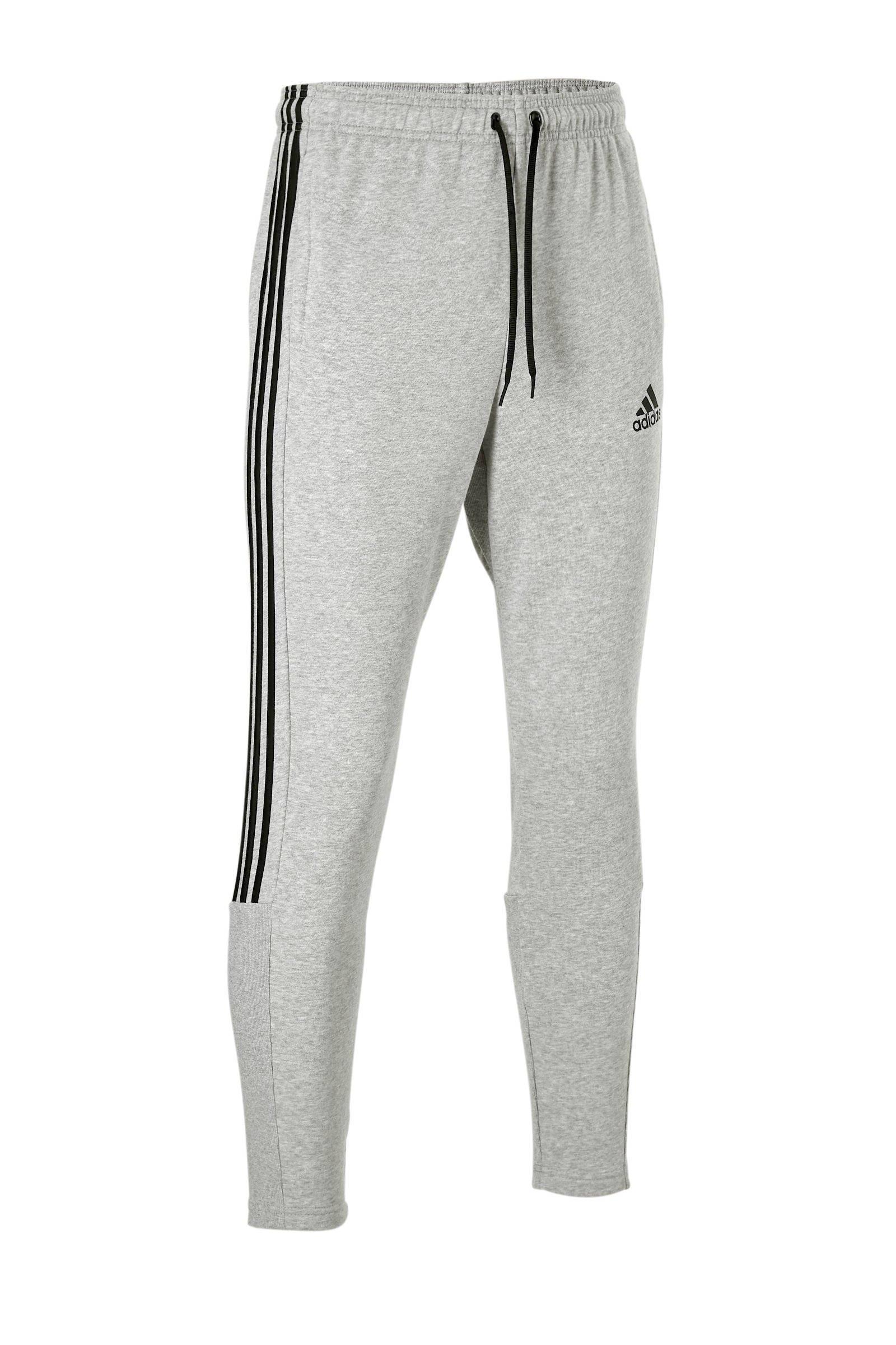 regular fit joggingbroek met logo grijs/zwart