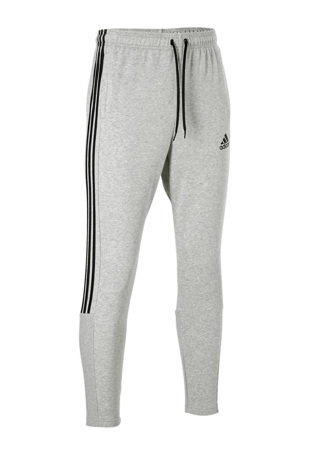 adidas regular fit joggingbroek met logo grijs/zwart, Grijs/zwart