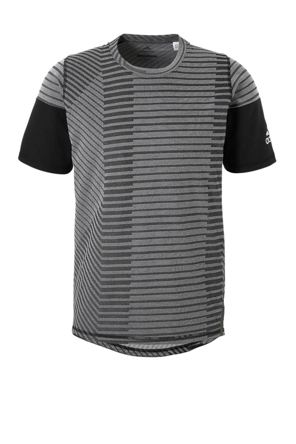 adidas performance   sport T-shirt, Zwart/wit