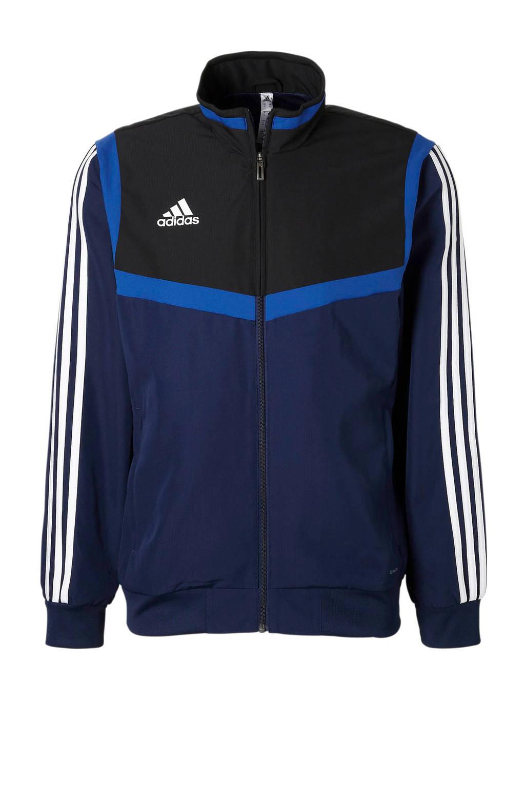 adidas performance   sportvest donkerblauw, Donkerblauw/zwart/blauw/wit