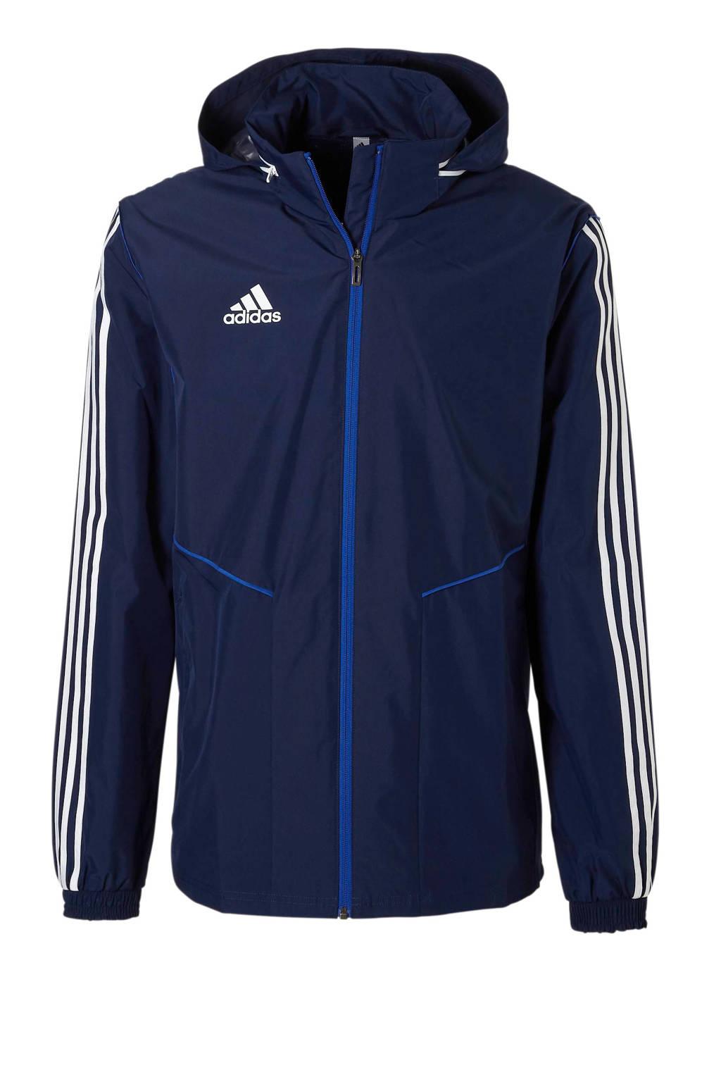 adidas performance   sportjack donkerblauw, Donkerblauw/wit