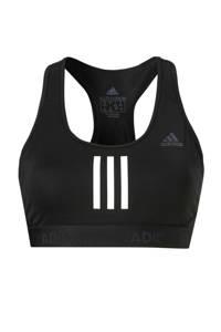 adidas Performance Level 1 sportbh zwart/wit, Zwart/wit