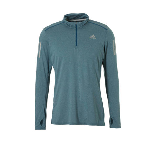 adidas performance hardloopshirt blauw