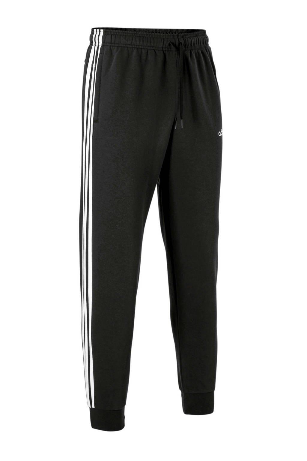 adidas   joggingbroek zwart, Zwart/wit