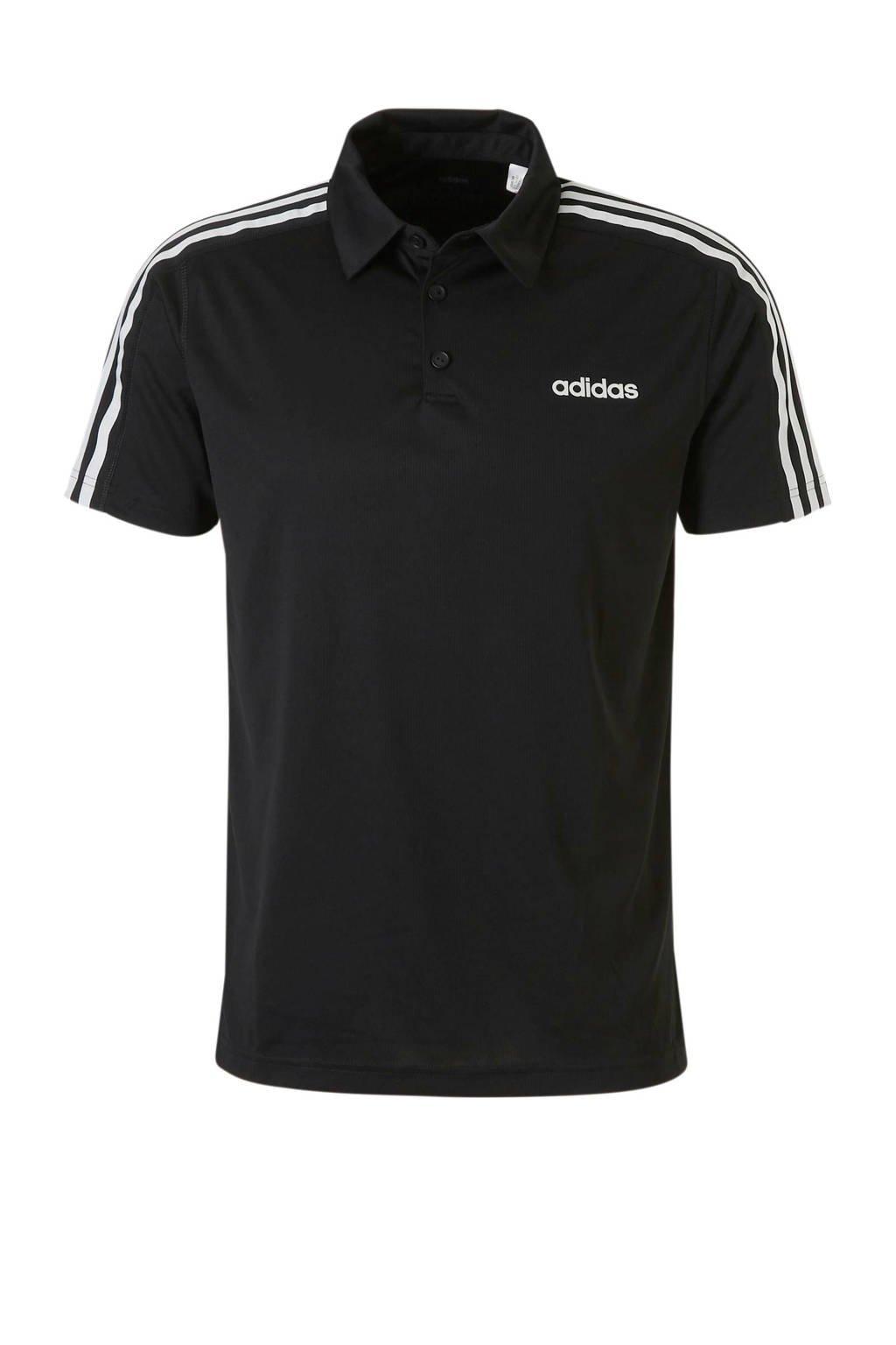 adidas performance   sportpolo zwart, Zwart
