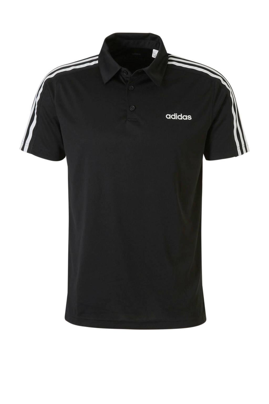 adidas   sportpolo zwart, Zwart