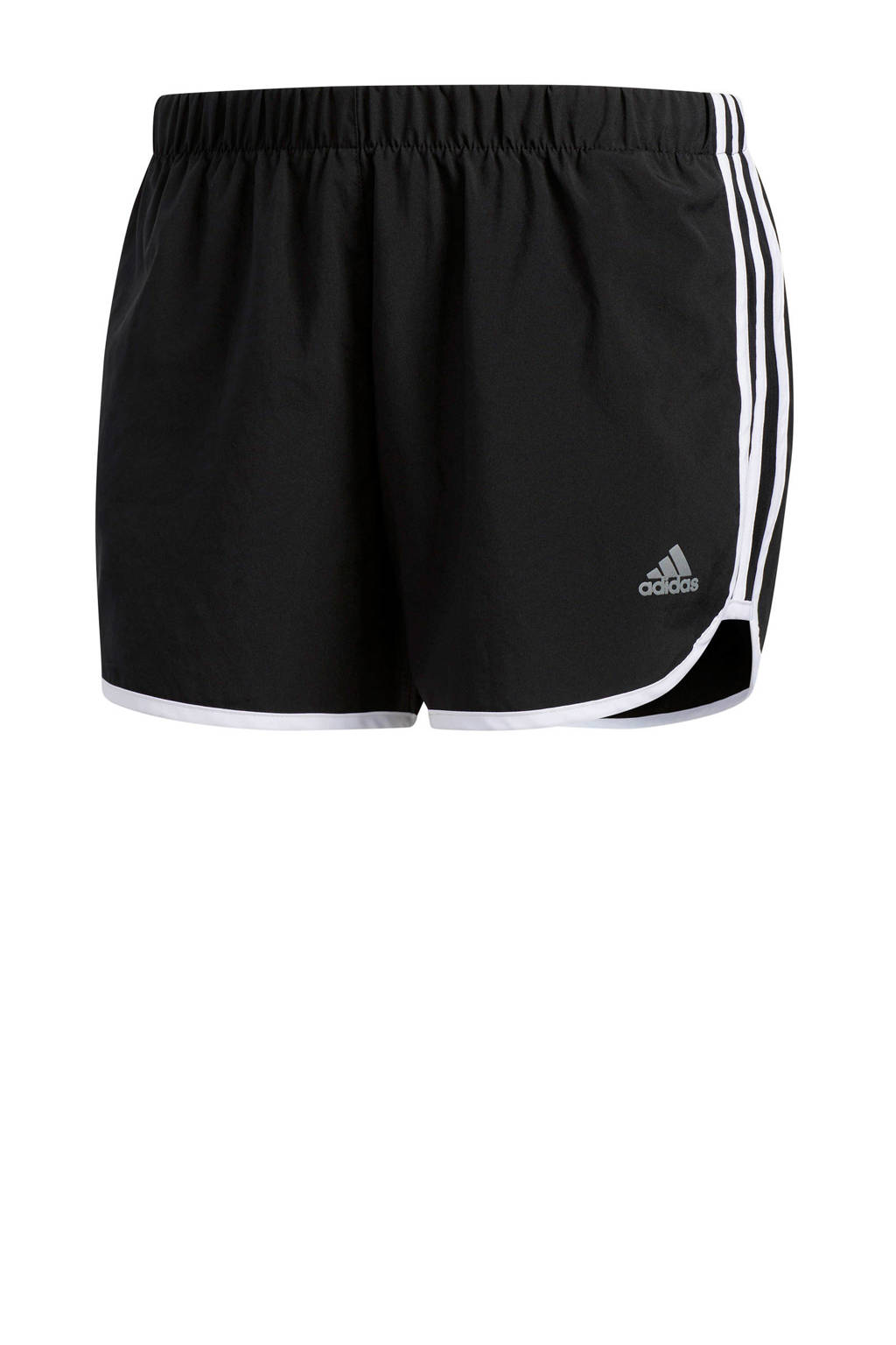 adidas Performance hardloopshort zwart, Zwart/wit