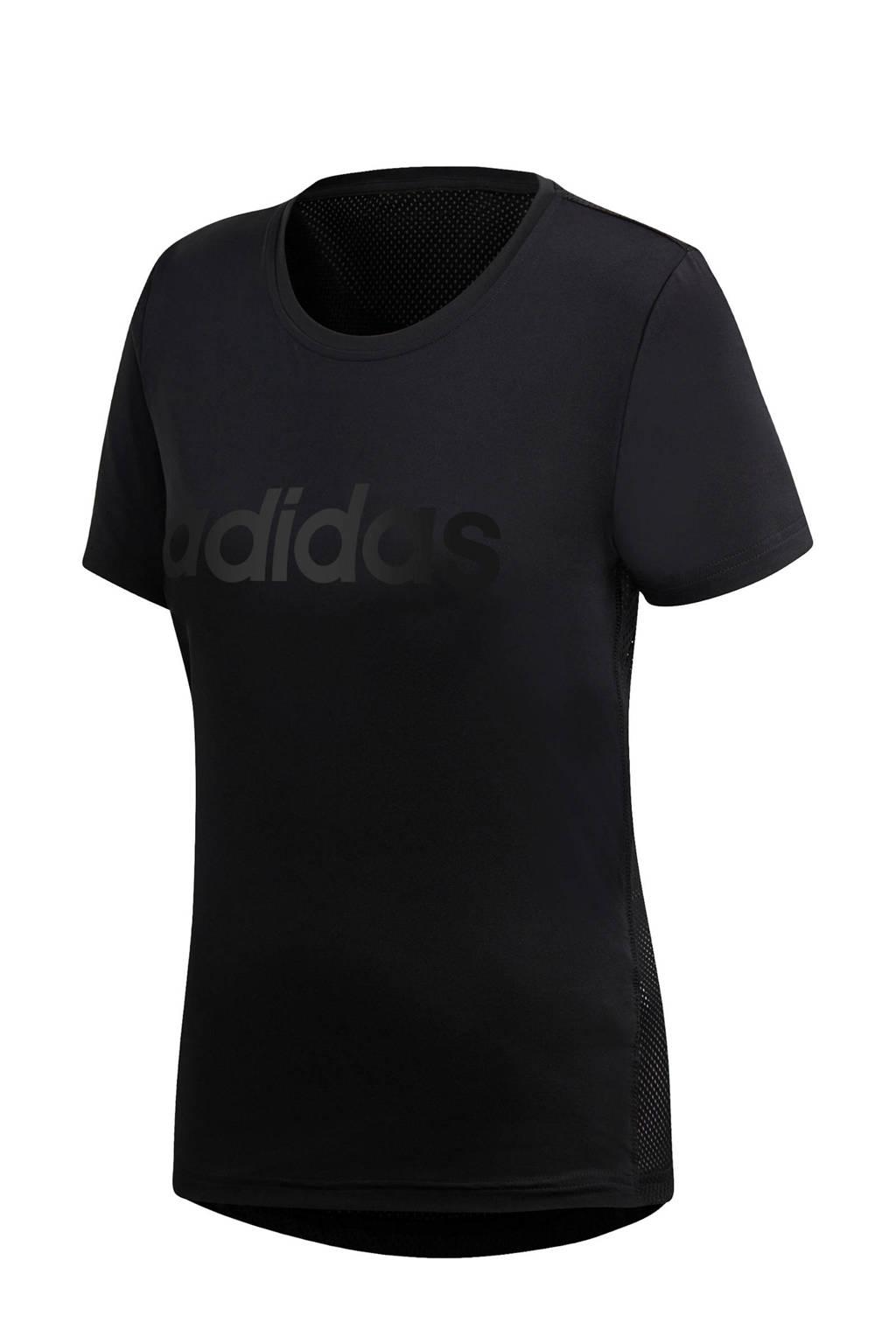 adidas Performance Designed2Move sport T-shirt zwart, Zwart/wit