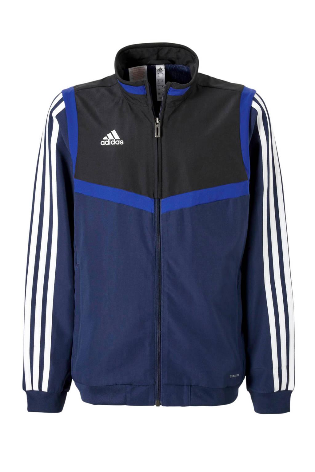 adidas performance   sportvest donkerblauw, Donkerblauw/zwart/wit