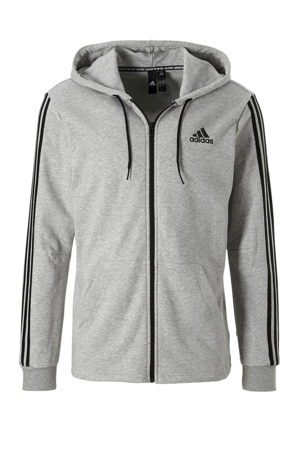 adidas performance   sportvest grijs, Grijs/zwart