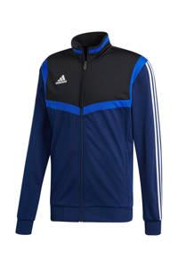adidas Performance   sportvest Tiro 19 donkerblauw, Donkerblauw/blauw