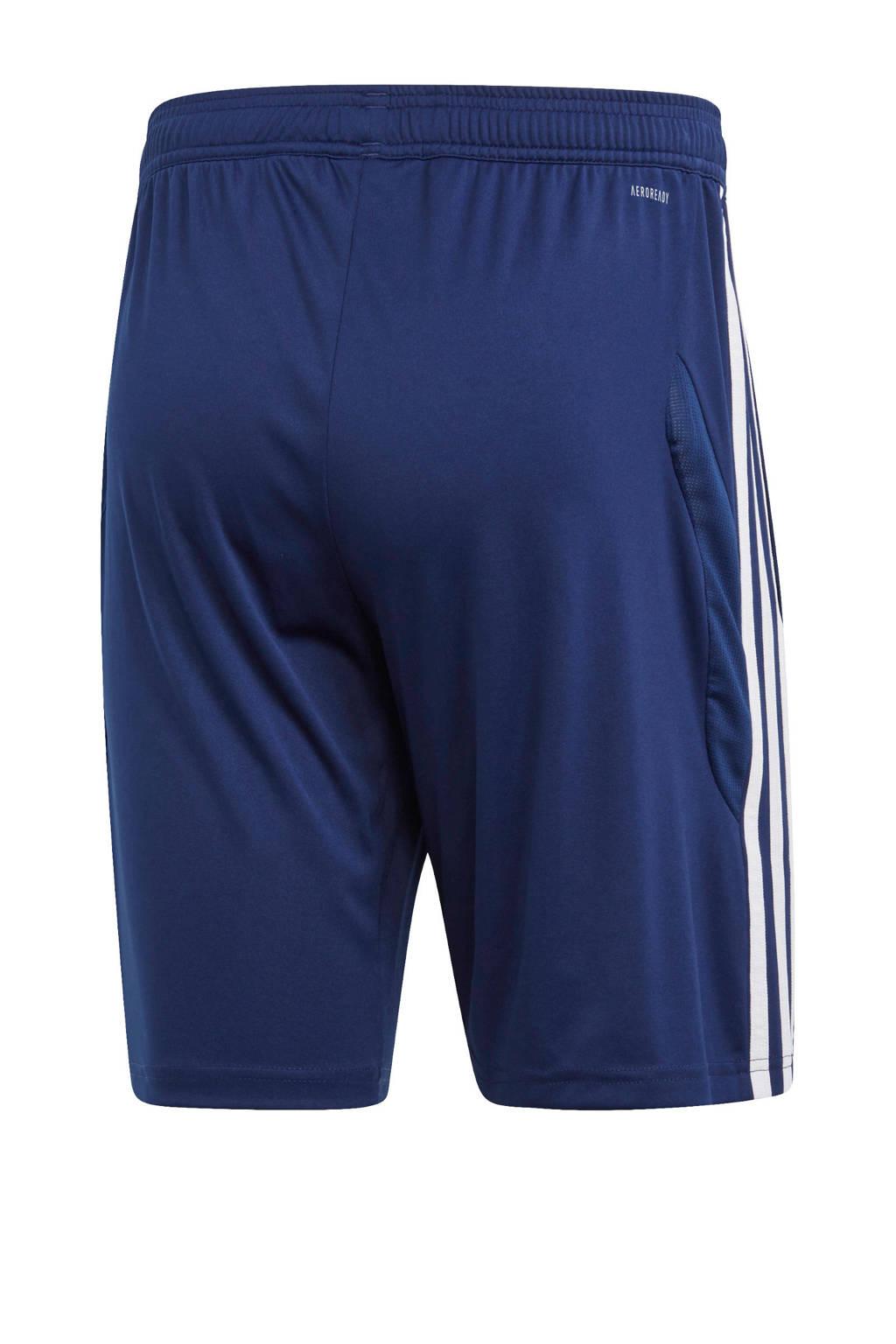 adidas Performance   sportshort Tiro 19 donkerblauw, Donkerblauw/wit