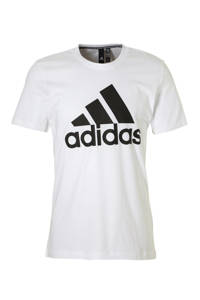 adidas Performance   sport T-shirt wit, Wit/zwart