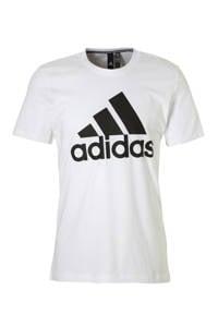 adidas   sport T-shirt wit, Wit/zwart