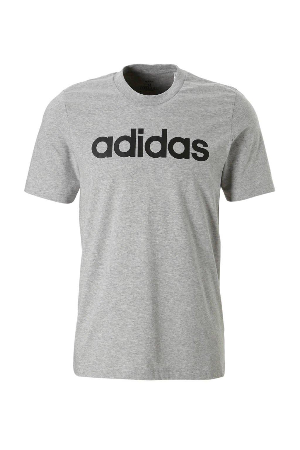 adidas Performance   sport T-shirt grijs melange, Grijs melange/zwart
