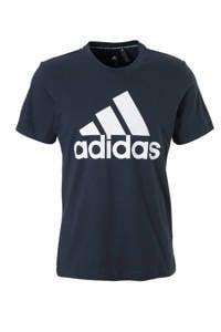 adidas Performance   sport T-shirt donkerblauw, Donkerblauw/wit