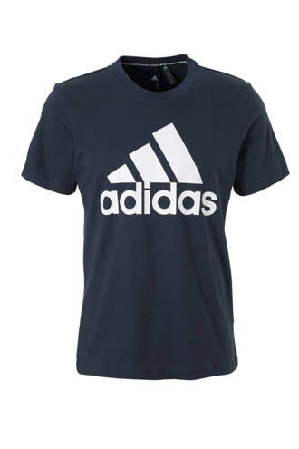 performance   sport T-shirt donkerblauw