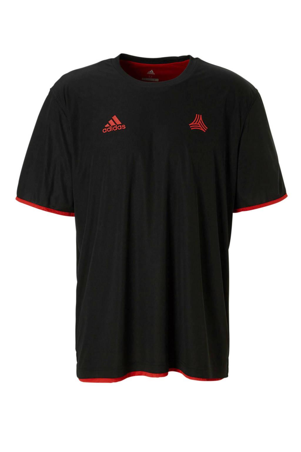 adidas performance   reversible sport T-shirt, Zwart/rood