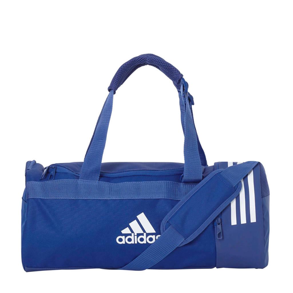 adidas performance   sporttas CVRT 3S DUF S blauw, Blauw/wit