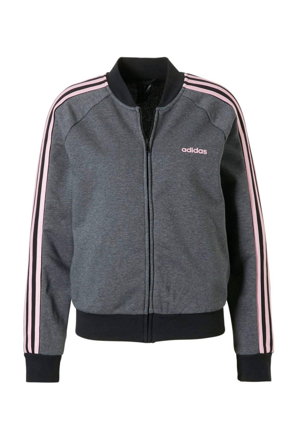 adidas performance sportvest grijs/zwart, Grijs/zwart/roze