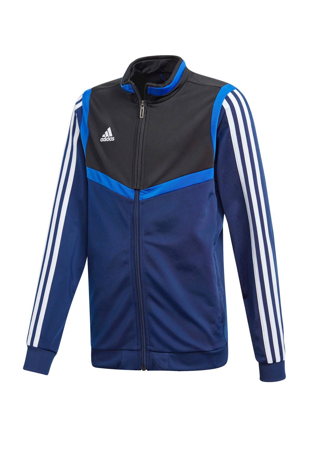 adidas   sportvest blauw, Blauw/wit/zwart