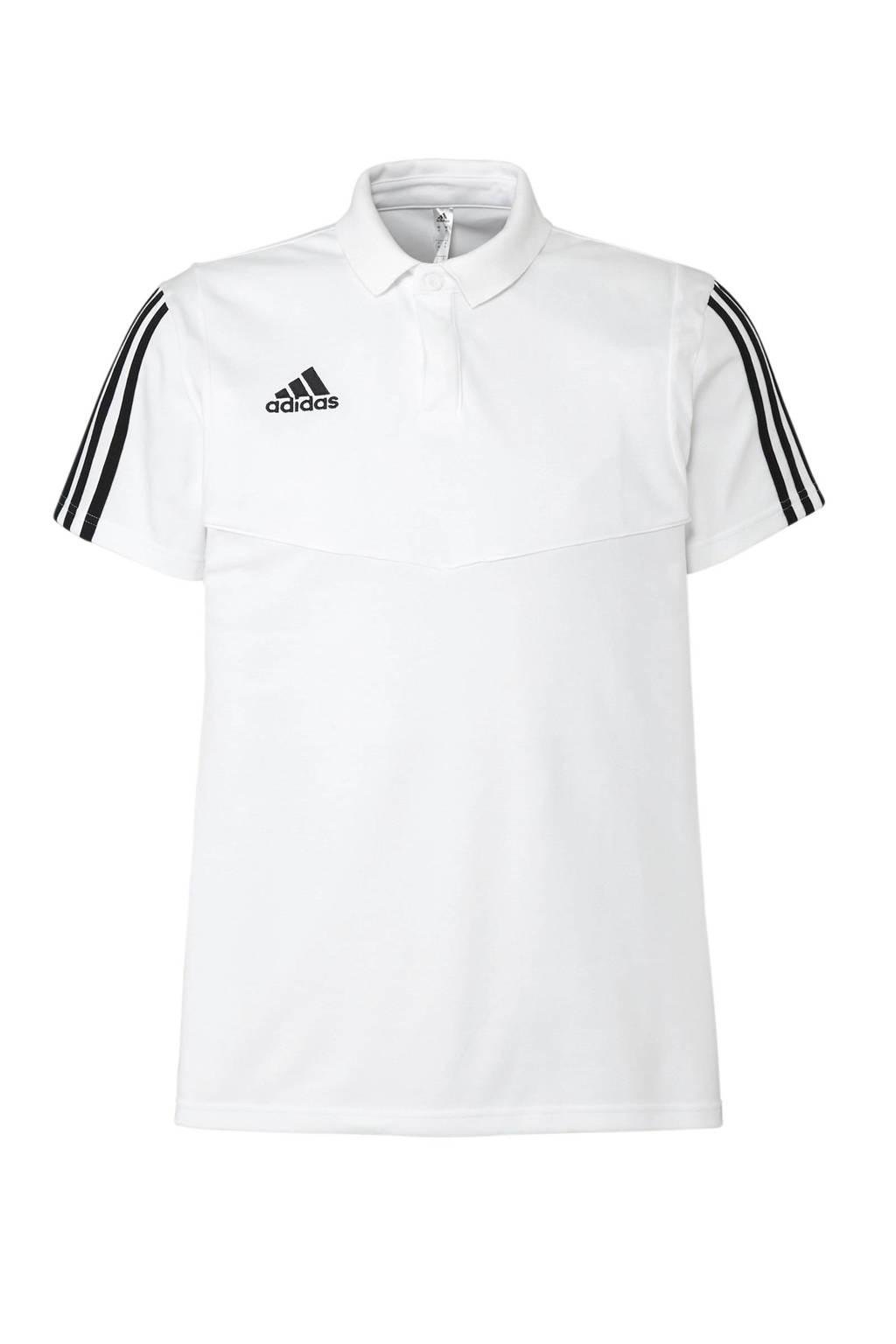 adidas Performance   sportpolo Tiro 19 wit, Wit/zwart