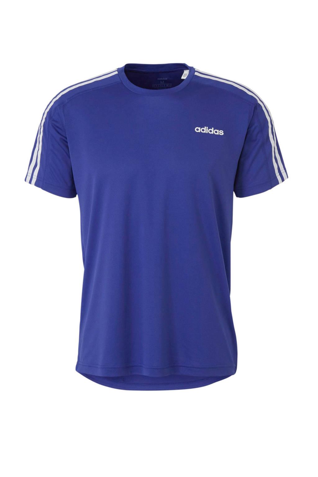 adidas performance   sport T-shirt zwart, Blauw