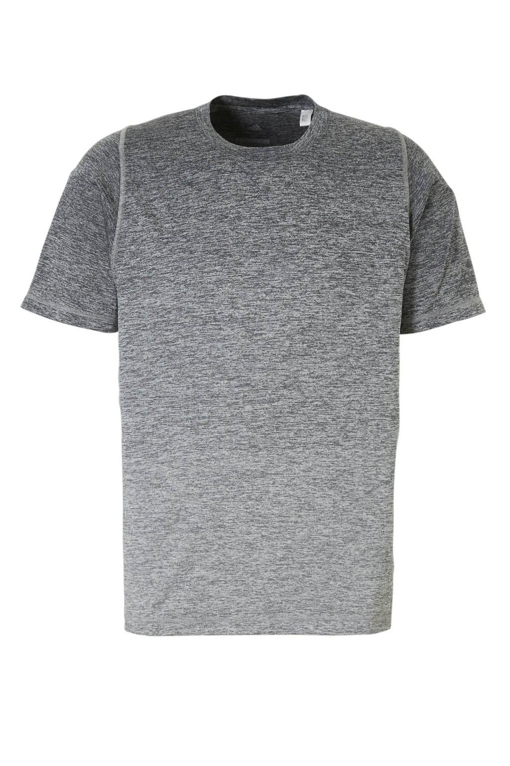 adidas performance   sport T-shirt  grijs, Antraciet/grijs melange